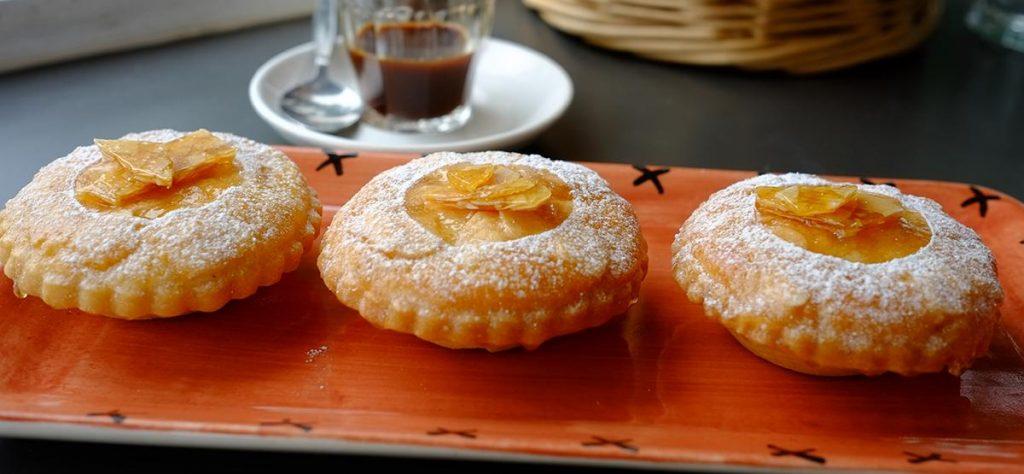 Caramelised Almond Tarts